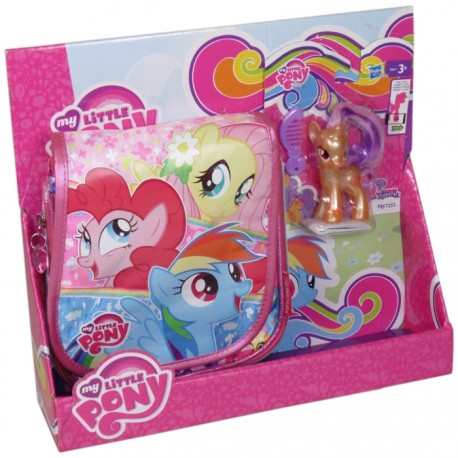BOLSO BANDOLERA + FIGURA MY LITTLE PONY