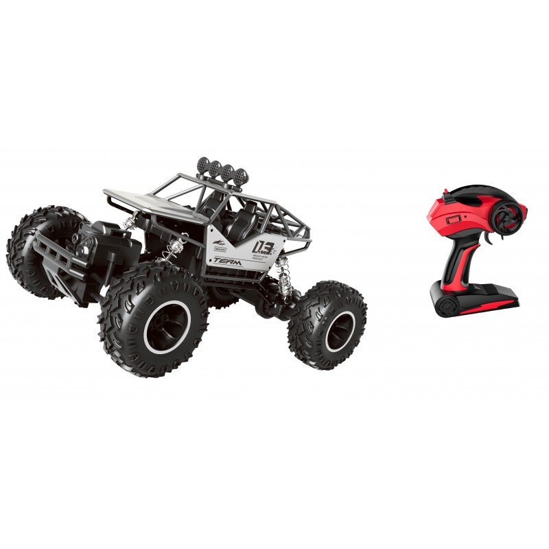 RC TODO TERRENO ROCK CRAWLER ESCALA 1:16 PLATA