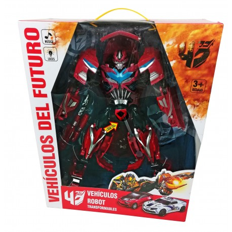 ROBOT TRANSFORMABLE DEPORTIVO ROJO