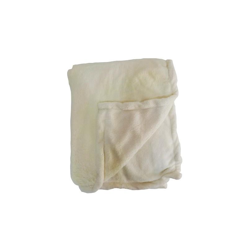 MANTA 150X220CM COLOR HUESO de la categoría Textil Dormitorio