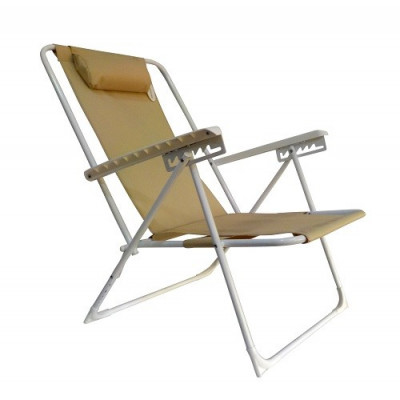 SILLA PLAYA RECLINABLE 5 POSICIONES -BEIGE-