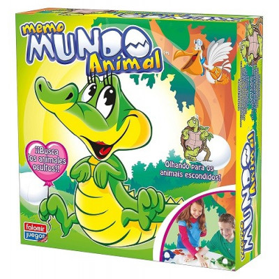 JUEGO MEMO MUNDO ANIMAL FALOMIR