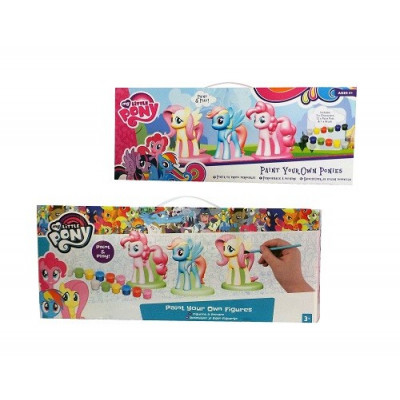 PINTA TUS FIGURAS MY LITTLE PONY PACK DE 3 FIGURAS