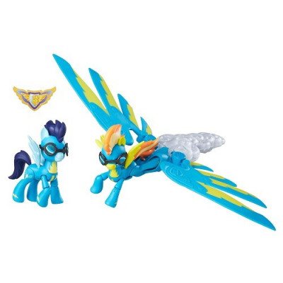 Set de My Little Pony Guardianes de Equestria. Figuras de Spitfire y Soarin. de la categoría My Little Pony