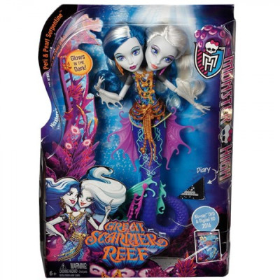 MONSTER HIGH GREAT SCARIER REEF - PERI & PEARL SERPENTINE 30CM