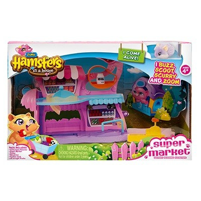 Playset Supermercado Hamsters in a House (INCLUYE 1 HAMSTER)