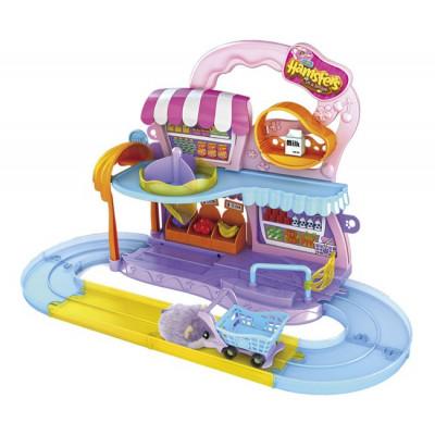 Playset Supermercado Hamsters in a House (INCLUYE 1 HAMSTER) de la categoría Muñecas y Mascotas Mini