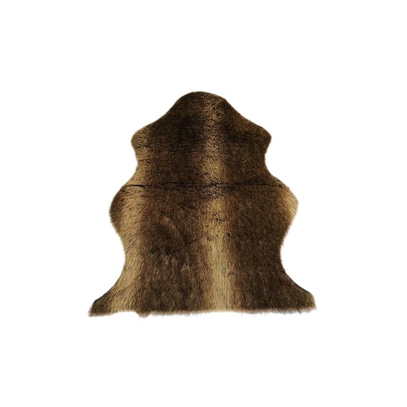 ALFOMBRA DE PELO LARGO 60X90CM. MARRÓN OSCURO de la categoría Textil Dormitorio