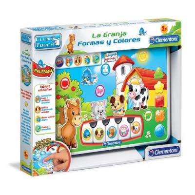 """Tableta Educativa Clementoni La Granja - Formas y Colores. Colección """"Jugando aprendo"""""""