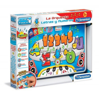 """Tableta Educativa Clementoni La Orquesta - Letras y Números. Colección """"Jugando aprendo"""""""