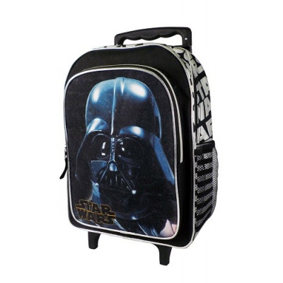 MOCHILA CARRO INFANTIL CON RUEDAS STAR WARS, DARTH VADER