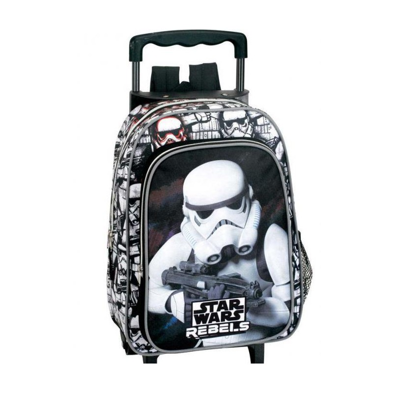 "MOCHILA CARRO INFANTIL CON RUEDAS STAR WARS. ""REBELS""."