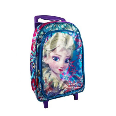 Mochila con ruedas de Elsa de Frozen. Carro morado