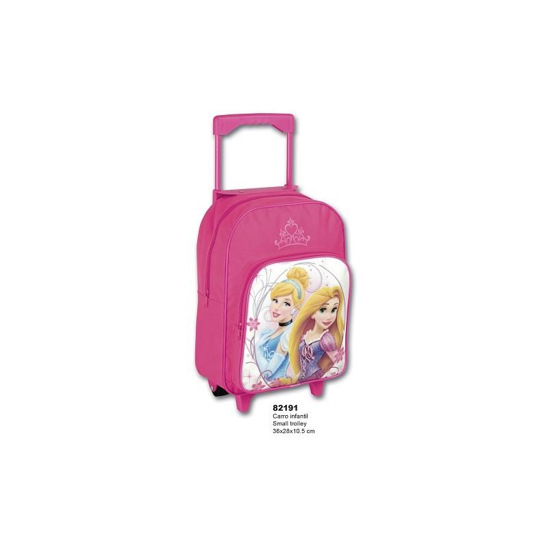 Mochila con ruedas de las Princesas Disney, Rapunzel y la Cenicienta. Mochila escolar. Carro rosa de la categoría Mochilas y Trolleys