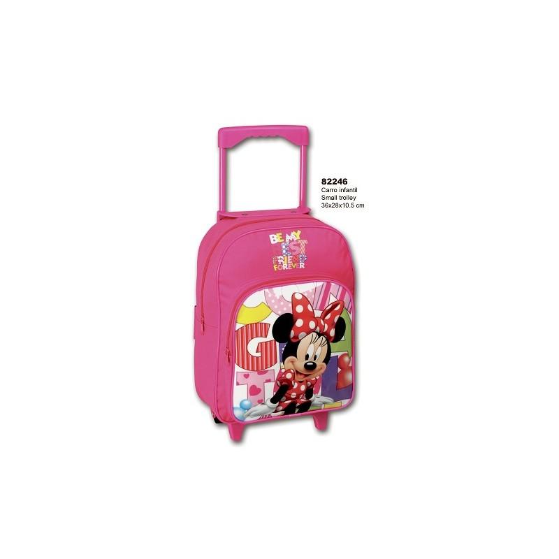 Mochila con ruedas de Minnie Mouse. Mochila escolar. Carro rosa de la categoría Mochilas y Trolleys
