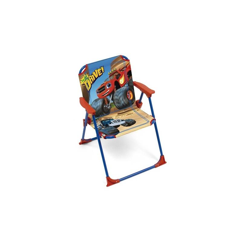 SILLA PLEGABLE INFANTIL DE PLAYA DE LA SERIE BLAZE Y LOS MONSTER MACHINES de la categoría Sillas Playa Infantiles