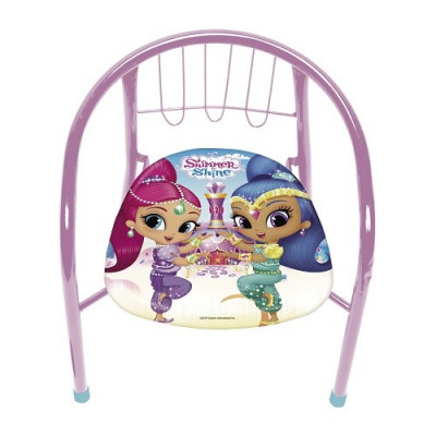 SILLA INFANTIL METAL SHIMMER AND SHINE. COLOR ROSA
