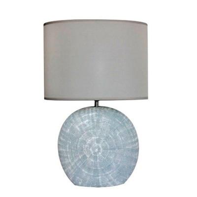 LAMPARA SOBREMESA ALTA TULIPA OVALADA. COLOR PLATA de la categoría Iluminación