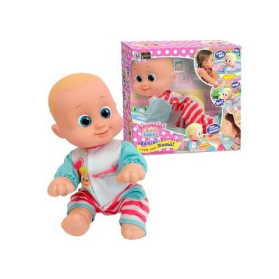 Muñeco Bebé Baniel y Bounie !Ven con Mamá!. Bebé gatea niño
