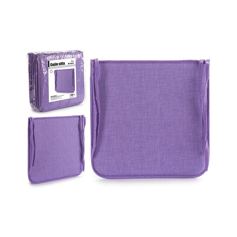 PACK 6 COJINES SILLA COLOR LILA de la categoría Decoración Textil
