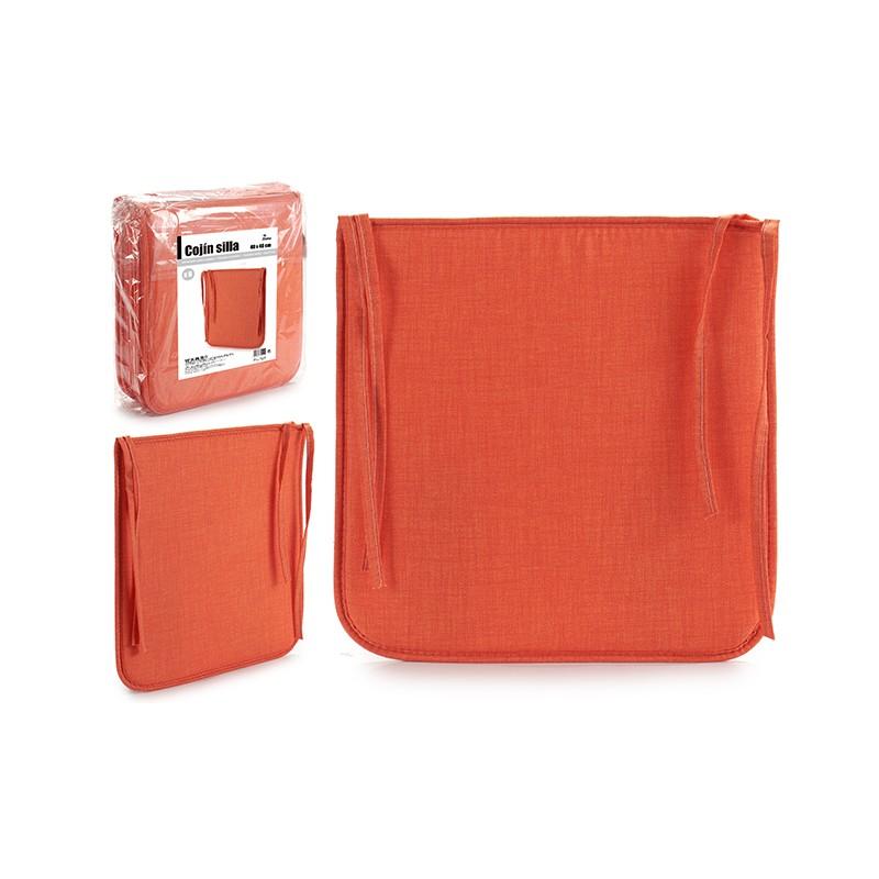 PACK 6 COJINES PARA SILLA. COLOR NARANJA de la categoría Decoración Textil