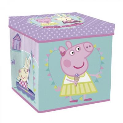 TABURETE PLEGABLE PEPPA PIG. ASIENTO GUARDA TODO de la categoría Sillas y Mesas Infantiles