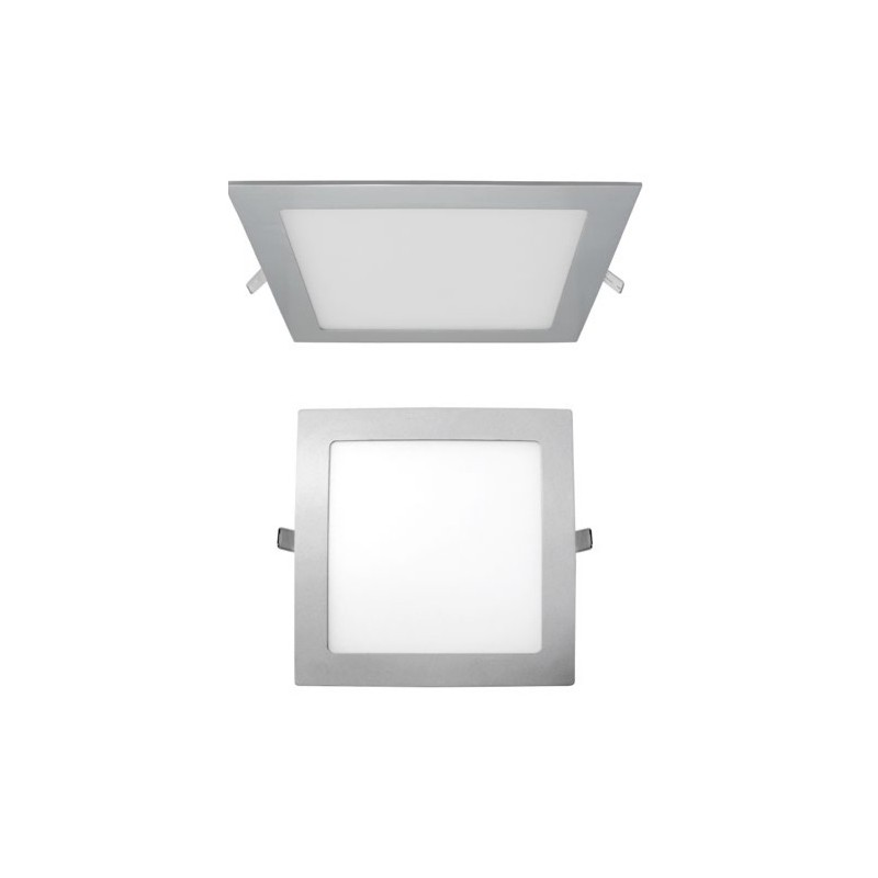 LUZ DOWNLIGHT EXTRAPLANO LED CUADRADO LUZ BLANCA. COLOR GRIS MATE