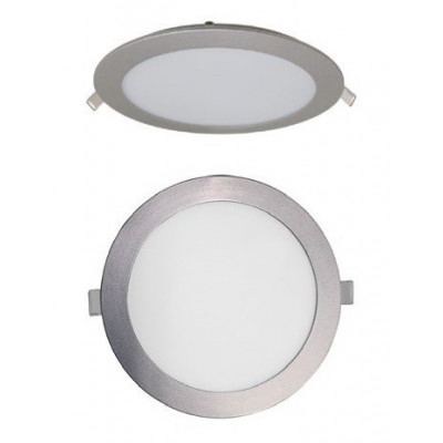 LUZ DOWNLIGHT EXTRAPLANO LED REDONDO LUZ BLANCA. COLOR GRIS