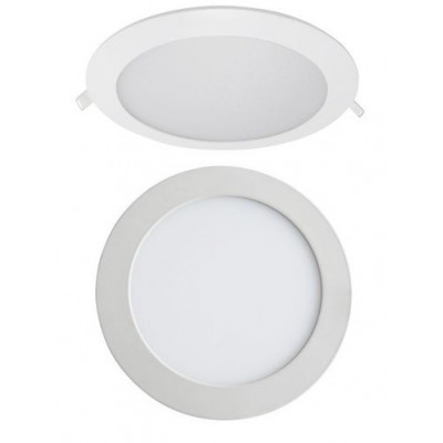 LUZ DOWNLIGHT EXTRAPLANO LED REDONDO. ARO GRIS BRILLO