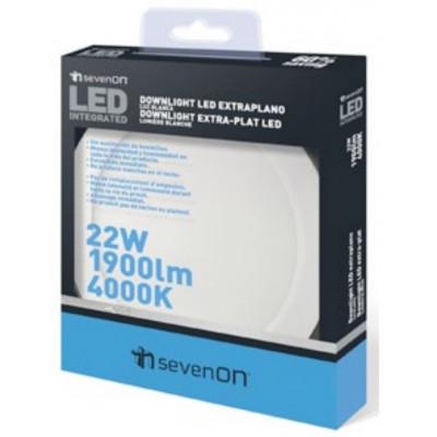 LUZ DOWNLIGHT EXTRAPLANO LED REDONDO. ARO BLANCO de la categoría Iluminación