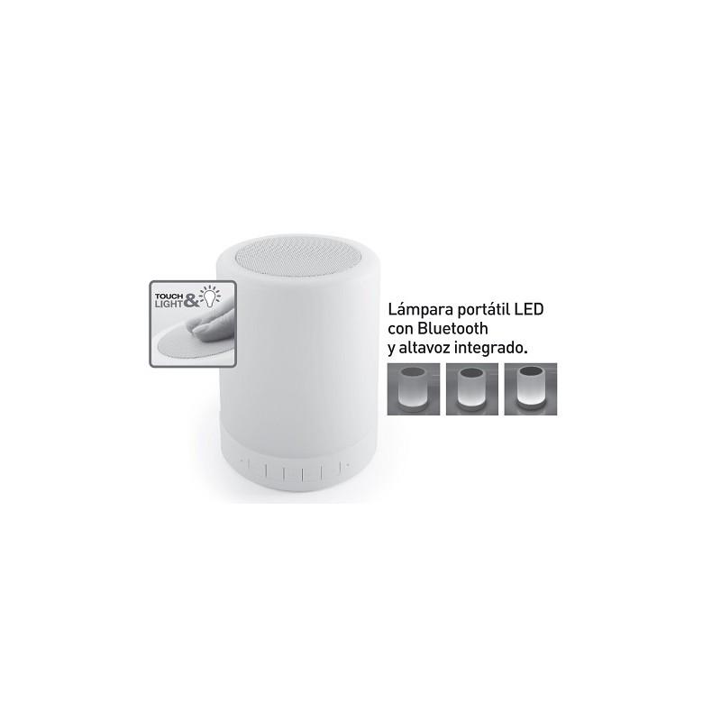 Lámpara led portátil con una potencia de 3W. de luz cálida, con altavoz bluetooth incorporado SEVENON