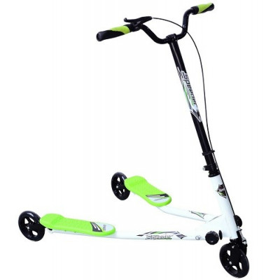 PATINETE 3 RUEDAS SPEED SCOOTER VIDA 10, MOD 02 COLOR VERDE Y BLANCO