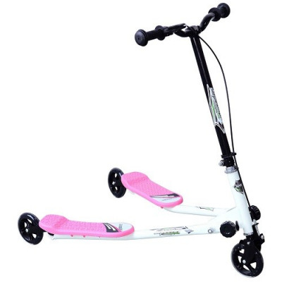 PATINETE 3 RUEDAS SPEED SCOOTER VIDA 10, MOD 03 COLOR ROSA Y BLANCO