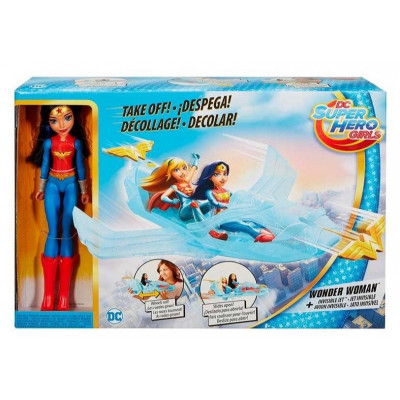 SUPER HERO WONDER WOMAN + AVIÓN INVISIBLE