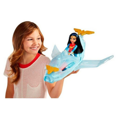SUPER HERO WONDER WOMAN + AVIÓN INVISIBLE