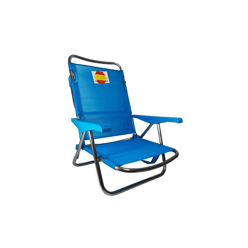 SILLA PLAYERA CAMA RECLINABLE - AZUL