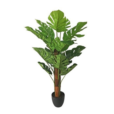 PLANTA MONSTERA ARTIFICIAL 97CM CON MACETERO