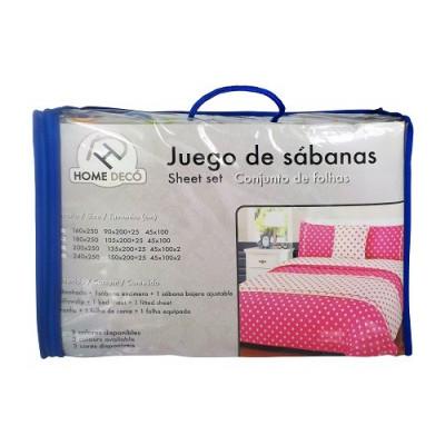 JUEGO DE SABANAS PIRINEO DE 105 EN COLOR AZUL
