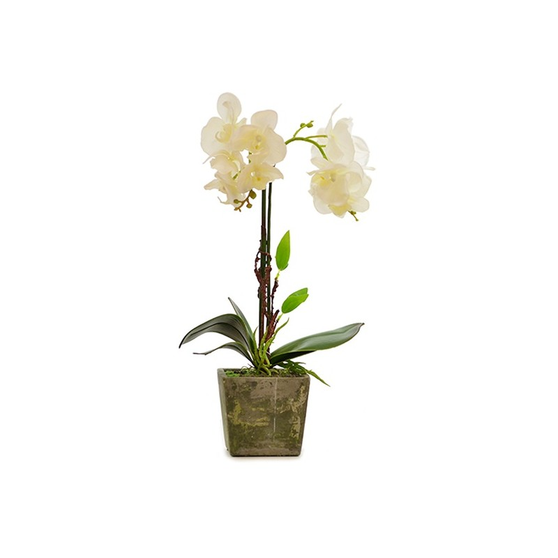 MACETA ORQUIDEA ARTIFICAL. COLOR BLANCO