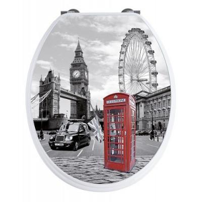 TAPA WC PREMIUM  3D LONDRES EN DUROPLAST