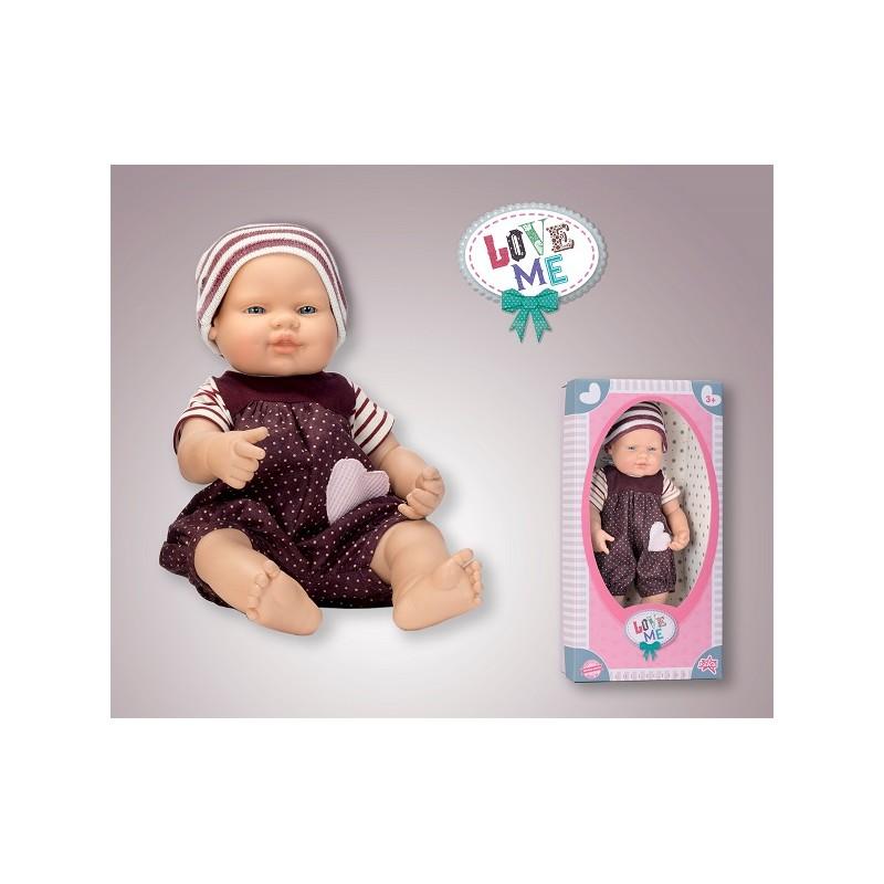 BEBÉ COLECCIÓN LOVE ME MONITO A LUNARES de la categoría Muñecas Bebé