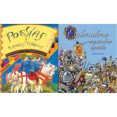 PACK 2 LIBROS. POESÍAS Y ROMANCES - EXPLORADORES Y CONQUISTADORES