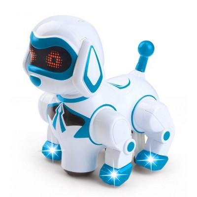 ROBOT CANINO  CON LUZ Y SONIDO AZUL
