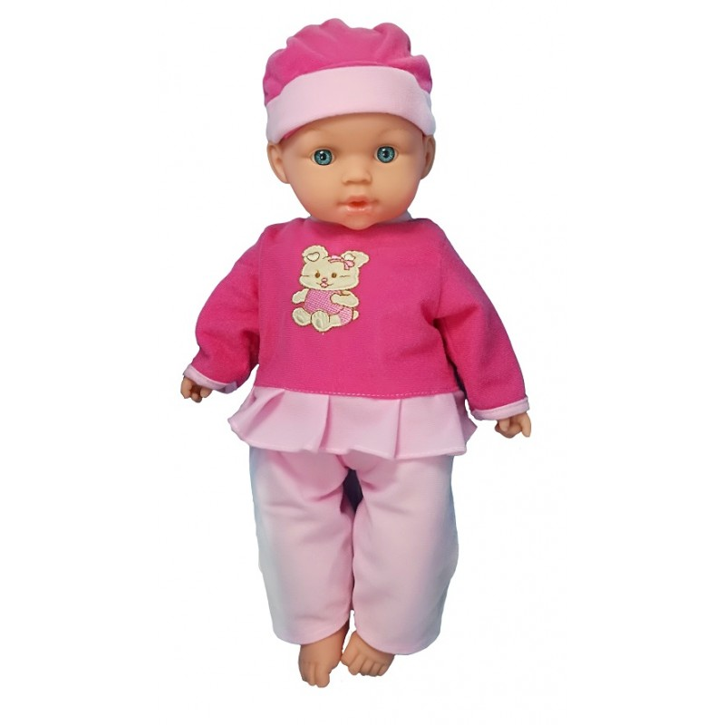 MUÑECO BEBÉ LLORÓN 6 SONIDOS - ROSA de la categoría Muñecas Bebé