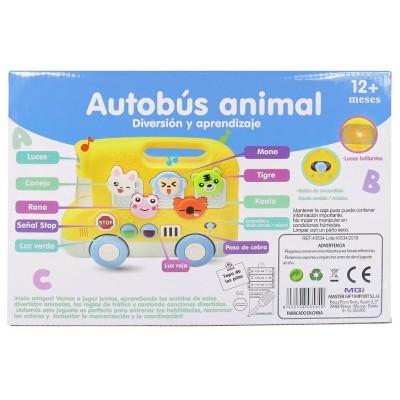 AUTOBUS INFANTIL ANIMALITOS LUZ Y SONIDO