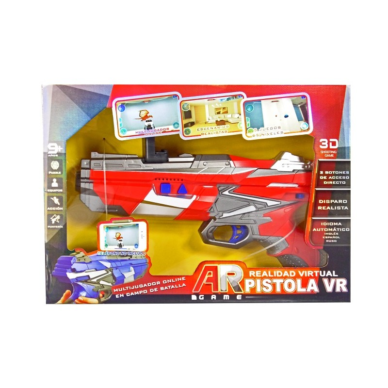 PISTOLA REALIDAD VIRTUAL AR GAME DE COLOR ROJO