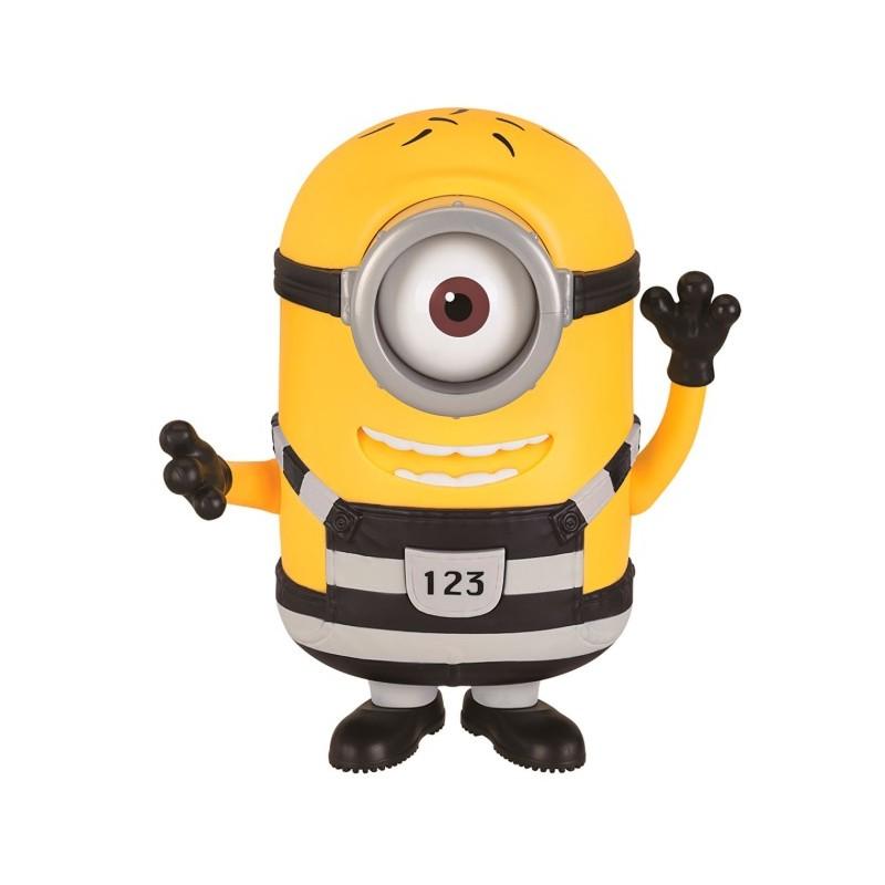 "Minions Figura Grande 18 cm con Voz ""Tom en la cárcel"" BIZAK"