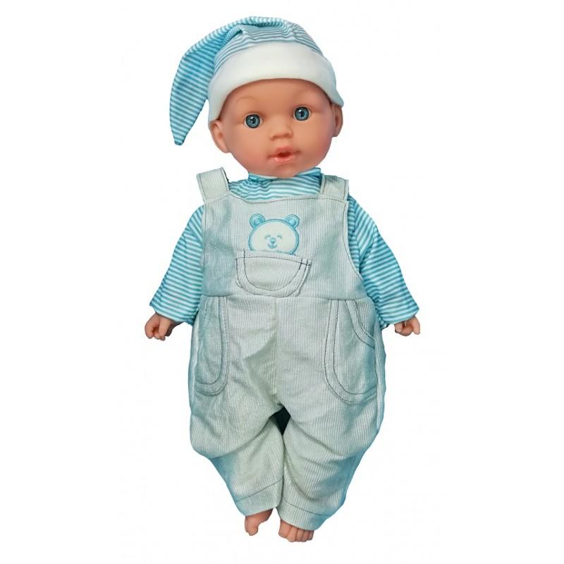MUÑECO BEBÉ LLORÓN 6 SONIDOS - AZUL de la categoría Muñecas Bebé
