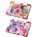 SET PUZLE SERIES NICKELODEON + MY LITTLE PONY 24 PIEZAS MAXI