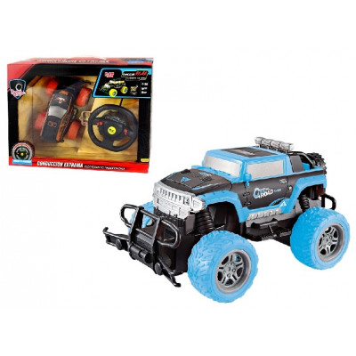 COCHE RC BIGFOOT MANDO VOLANTE AZUL